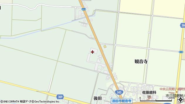 山形県酒田市北仁田石田80周辺の地図