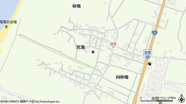 山形県酒田市宮海砂飛53周辺の地図