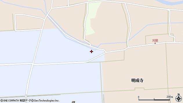 山形県酒田市本楯泓周辺の地図