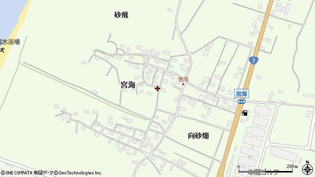山形県酒田市宮海砂飛54周辺の地図