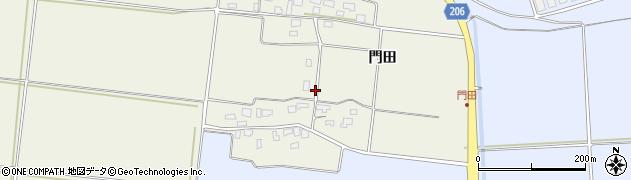 山形県酒田市穂積門田208周辺の地図