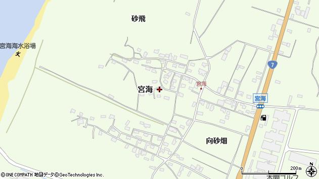 山形県酒田市宮海砂飛63周辺の地図