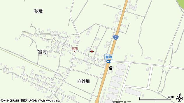 山形県酒田市宮海村東14周辺の地図