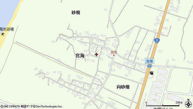 山形県酒田市宮海砂飛56周辺の地図