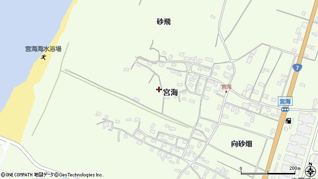 山形県酒田市宮海砂飛80周辺の地図