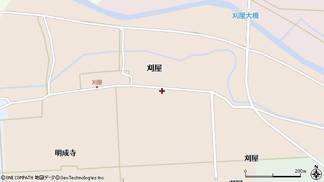 山形県酒田市刈屋館ノ内周辺の地図