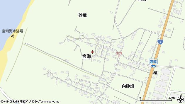 山形県酒田市宮海砂飛69周辺の地図