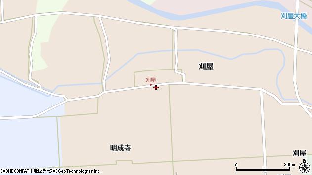 山形県酒田市刈屋堂ノ前8周辺の地図