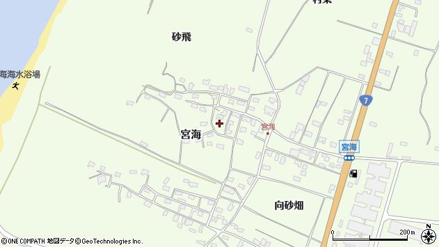 山形県酒田市宮海砂飛61周辺の地図