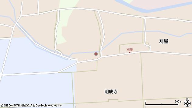 山形県酒田市刈屋小松野4周辺の地図
