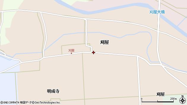 山形県酒田市刈屋中川周辺の地図