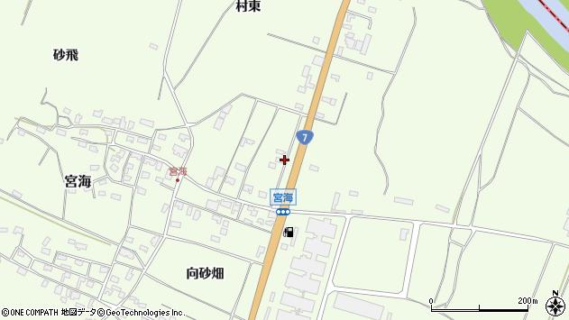 山形県酒田市宮海村東37周辺の地図