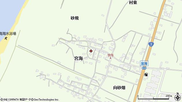 山形県酒田市宮海砂飛60周辺の地図