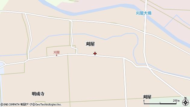 山形県酒田市刈屋東村40周辺の地図