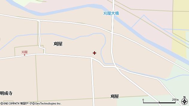 山形県酒田市刈屋東村4周辺の地図