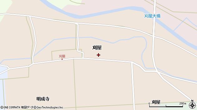山形県酒田市刈屋東村74周辺の地図