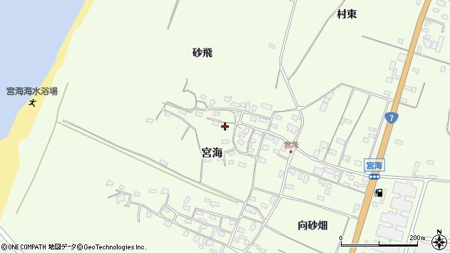 山形県酒田市宮海砂飛周辺の地図