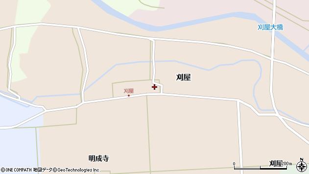 山形県酒田市刈屋東村95周辺の地図