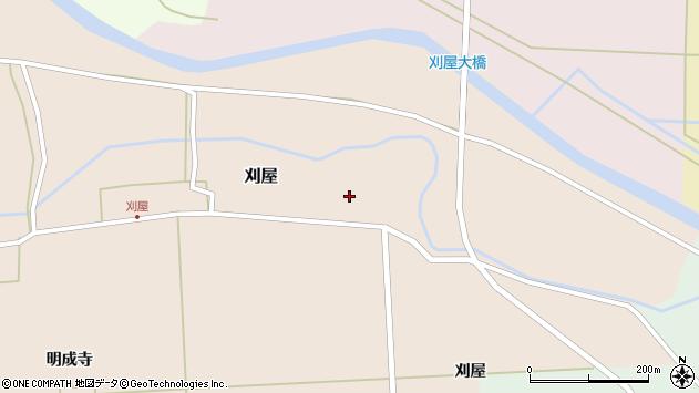 山形県酒田市刈屋東村29周辺の地図