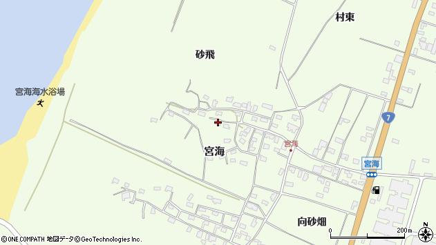 山形県酒田市宮海砂飛71周辺の地図