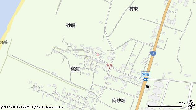 山形県酒田市宮海砂飛153周辺の地図