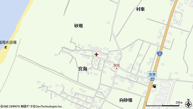 山形県酒田市宮海砂飛152周辺の地図