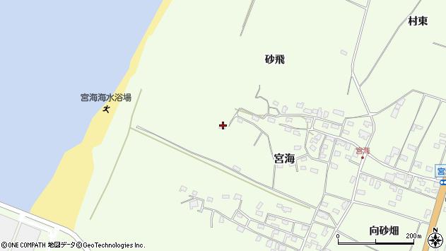 山形県酒田市宮海砂飛96周辺の地図