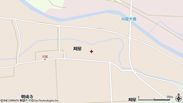 山形県酒田市刈屋東村49周辺の地図