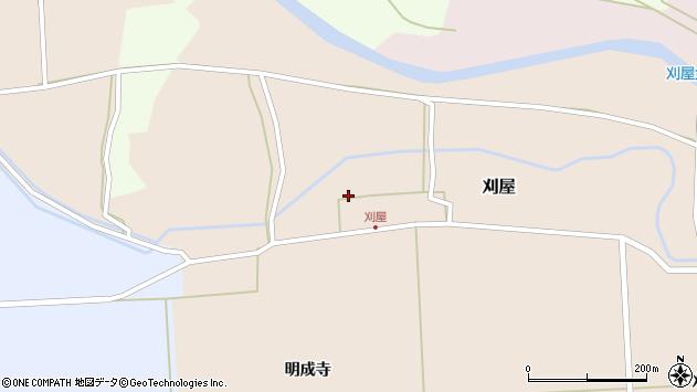 山形県酒田市刈屋東村136周辺の地図