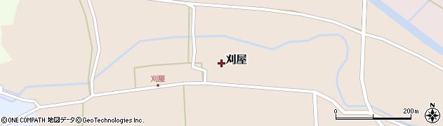 山形県酒田市刈屋東村84周辺の地図