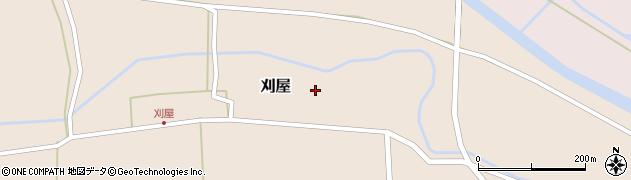 山形県酒田市刈屋東村周辺の地図