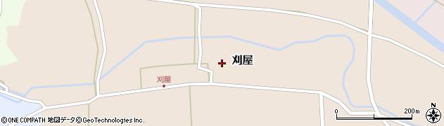 山形県酒田市刈屋東村90周辺の地図