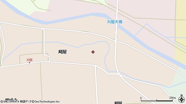 山形県酒田市刈屋東村13周辺の地図