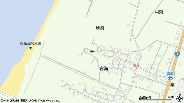 山形県酒田市宮海砂飛130周辺の地図