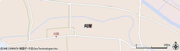 山形県酒田市刈屋周辺の地図