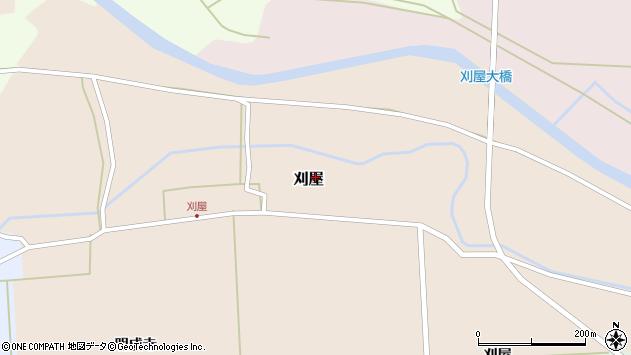山形県酒田市刈屋東村73周辺の地図