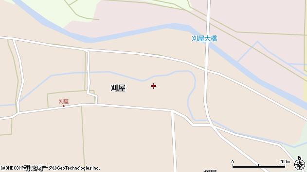 山形県酒田市刈屋東村31周辺の地図