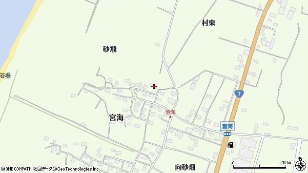 山形県酒田市宮海砂飛157周辺の地図