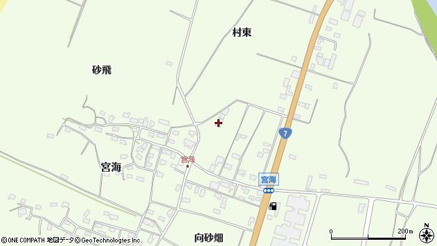 山形県酒田市宮海村東58周辺の地図