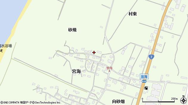 山形県酒田市宮海砂飛151周辺の地図