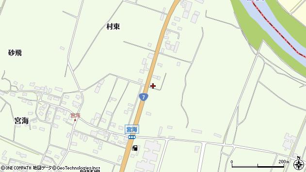 山形県酒田市宮海村東84周辺の地図