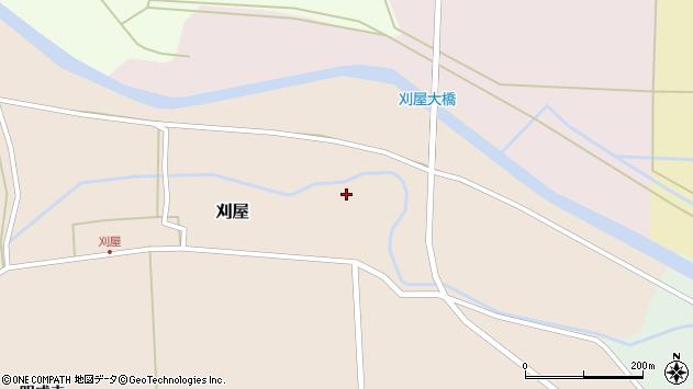 山形県酒田市刈屋東村12周辺の地図