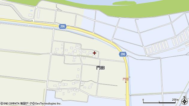 山形県酒田市穂積門田112周辺の地図