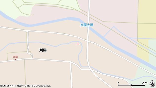 山形県酒田市刈屋東村10周辺の地図