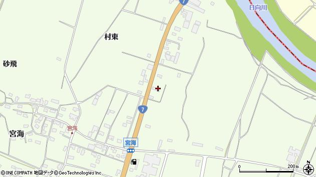 山形県酒田市宮海村東86周辺の地図