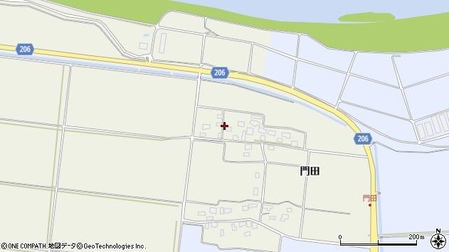山形県酒田市穂積門田132周辺の地図