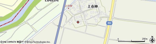 山形県酒田市穂積上市神135周辺の地図