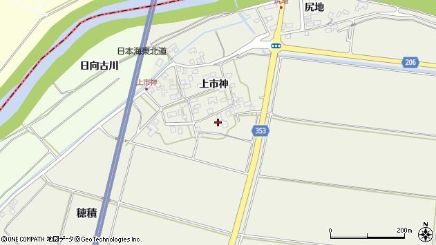 山形県酒田市穂積上市神99周辺の地図