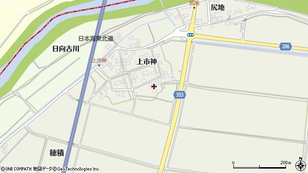 山形県酒田市穂積上市神94周辺の地図