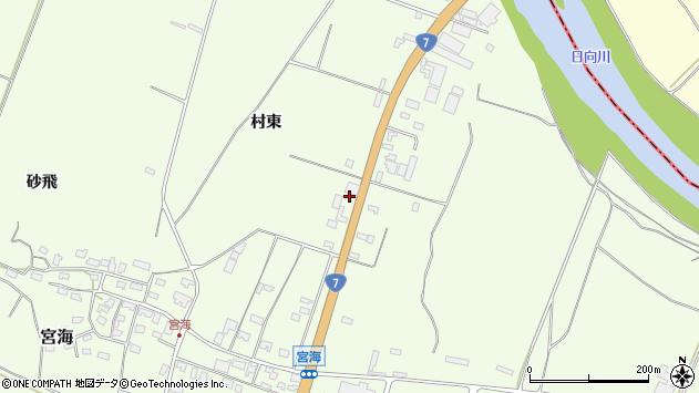 山形県酒田市宮海村東82周辺の地図